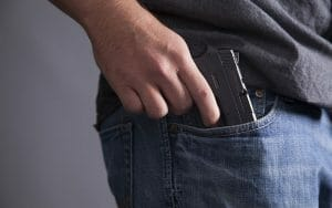 carrying gun in a pocket