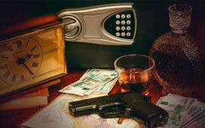 Gun and a safe